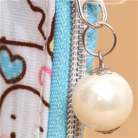 Inner Zipper Pearl White Zelena white mamegoma seals wallet coin with glitter