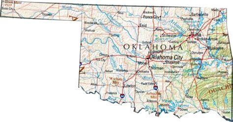 map of the united states oklahoma image gallery large oklahoma state map