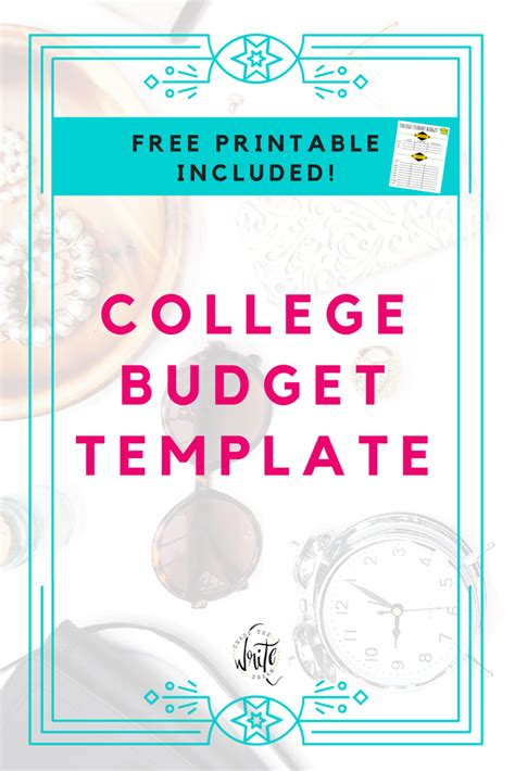 College Budget Template Free Printable For Students Free Printable College And Budgeting Template For Students