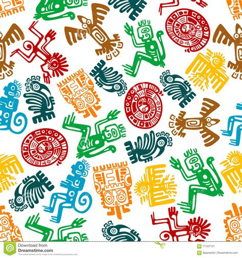 imagenes de totems aztecas modello maya ed azteco senza cuciture dei totem animali