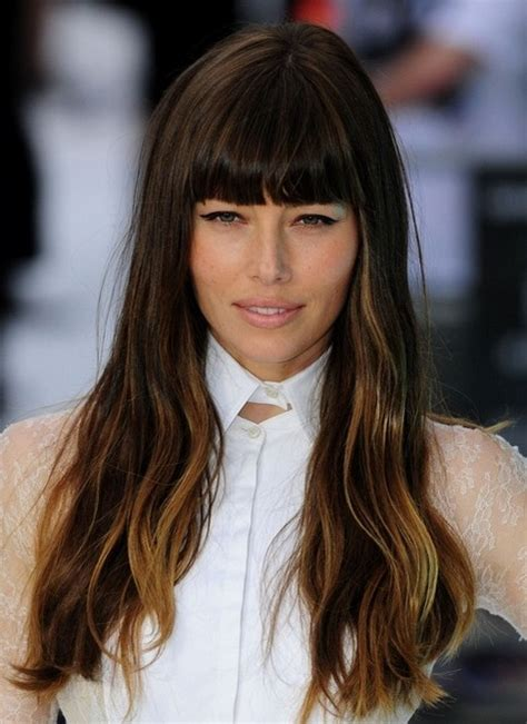 long hairstyles images 2014 2014 jessica biel hairstyles long hairstyle with blunt