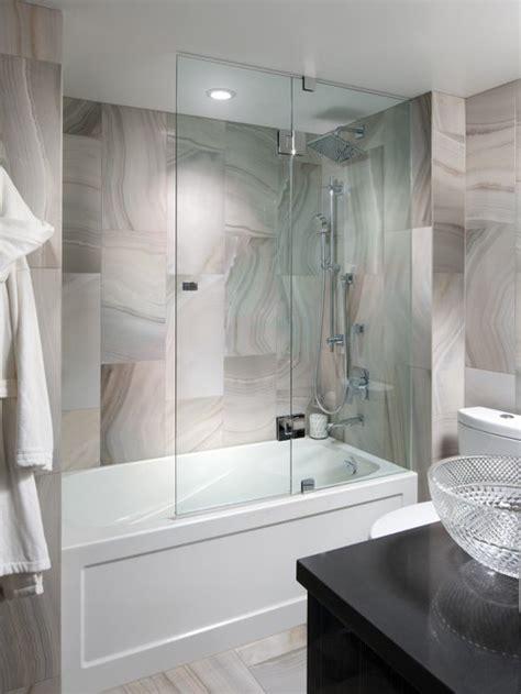 frameless hinged tub enclosure door houzz
