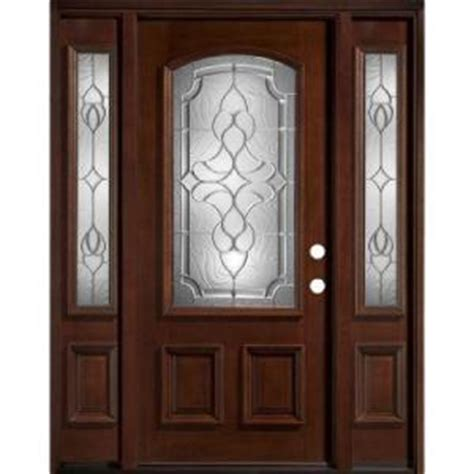 Homedepot Exterior Door Home Depot Legacy Wood Entry Door With Beveled Glass Sidelites Front Doors House