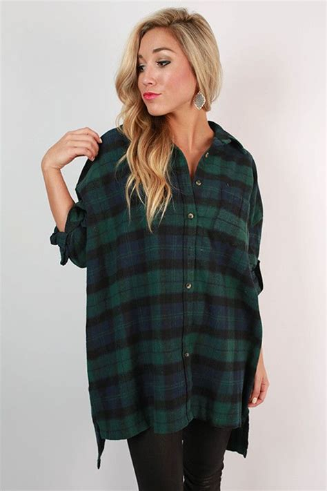 Oversized Flannel flannel me up tunic in green to be oversized flannel and tunics