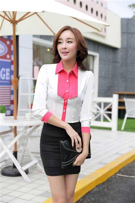 Ks Kemeja Korea Murah Kekinian Modern Import kemeja wanita modern model terbaru 2015 model terbaru jual murah import kerja