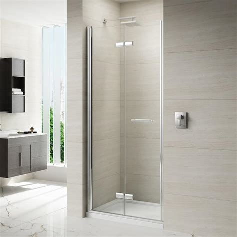 Bifold Shower Door Frameless Merlyn 8 Series Frameless Hinged Bifold Shower Door