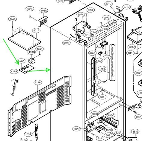 kenmore elite refrigerator parts diagram schematic kenmore elite refrigerator 72053 get free