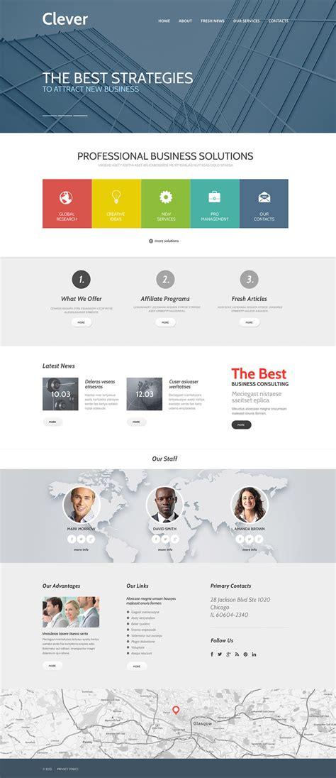 responsive site templates business responsive website template 57952
