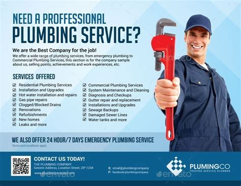 Contractor by Plumbing Service Flyer By Artchery Graphicriver
