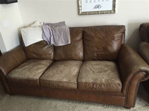 repaint leather sofa hometalk repairing and reving leather couch cushions