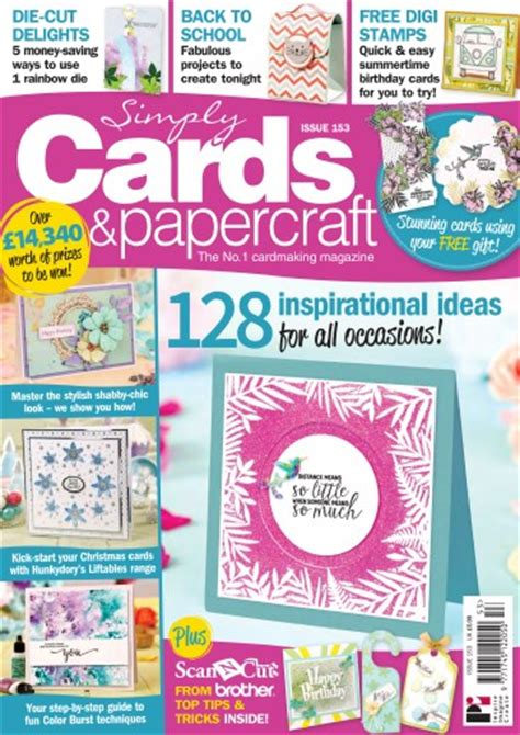 Simply Cards And Papercraft Magazine - simply cards papercraft magazine 153 subscriptions