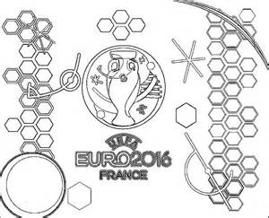 coloriage 2016 football logo chionnat d europe