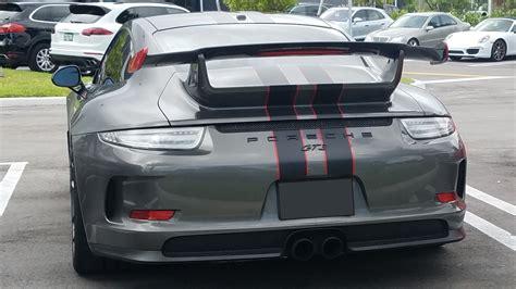 porsche spoiler 2012 2015 porsche 911 991 gt3 style rear wing spoiler