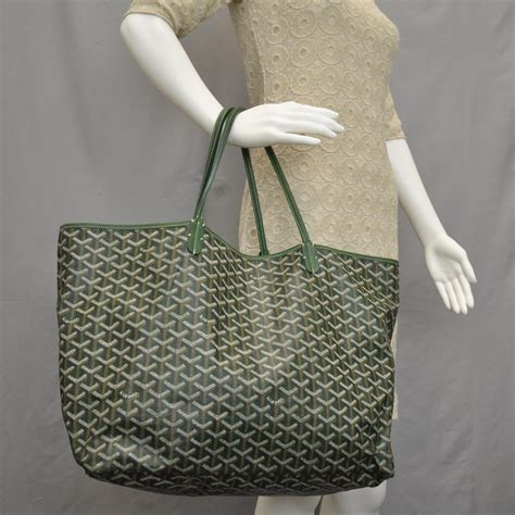 The Go Green Goyard St Louis Shopper Tote by Goyard St Louis Gm Tote Bag Green 33036