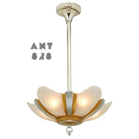 deco ceiling light deco streamline chandelier antique 5 slip shade