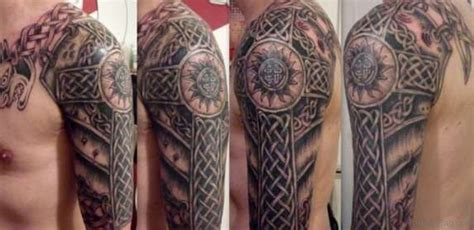 tattoo cross on shoulder 50 best celtic tattoos for shoulder