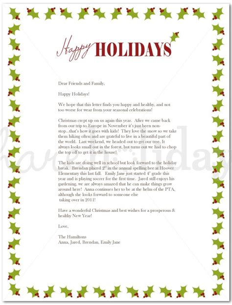 best photos of family annual christmas letter exles