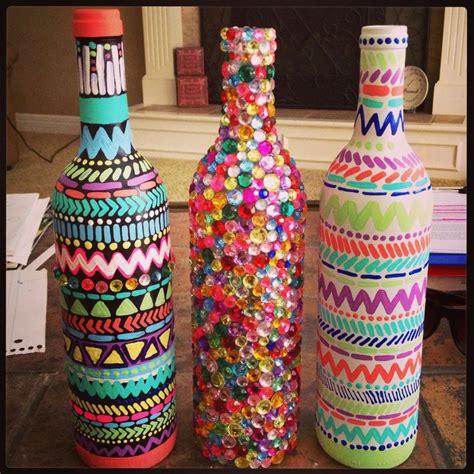 diy decorated wine bottles everything else pinterest