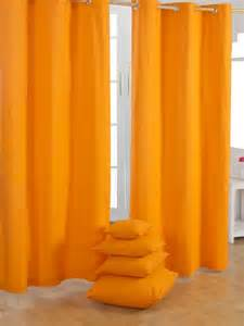 Contemporary Orange Curtains Designs Plain Orange Ready Made Curtains Modern Curtains Other Metro By Homescapes Europa Ltd