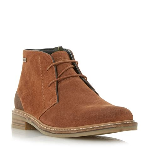 boots for casual barbour readhead casual chukka boots in brown for lyst