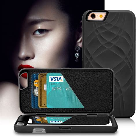 Flip Cover Card Holder For Iphone 6 6s roybens luxury leather card holder s make up mirror for iphone 6s stand wallet pc