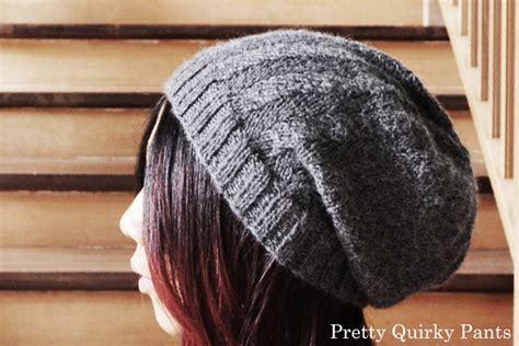 diy knit beanie pretty diy herringbone slouch knit beanie