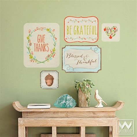 thanksgiving phrases removable wall decals fall or
