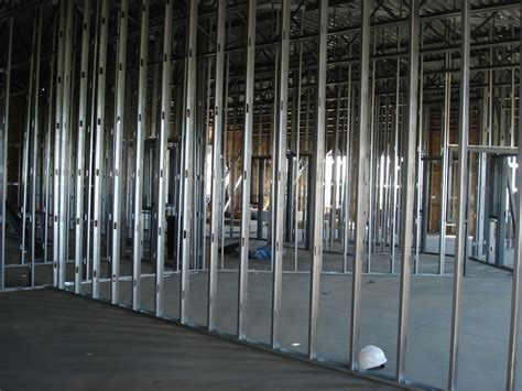metal stud framing steel studs are the frames of your office mess with then and your office will look slanted