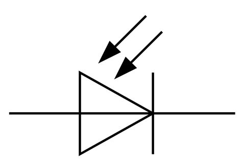 symbol of diode file symbol photodiode svg wikimedia commons