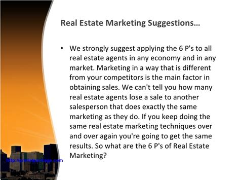 Mba Marketing In Real Estate real estate presentation marketing strategies