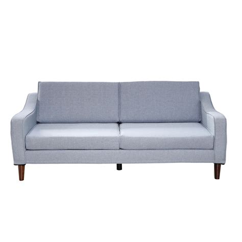 homcom three seat sofa light blue sofas furniture
