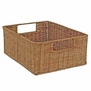 wicker storage basket rattan drawer basket fern
