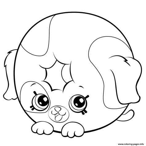cute donut dog printable shopkins season  coloring pages