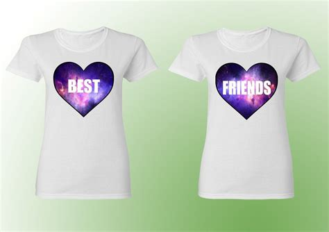 t shirt layout for best friends couple t shirt best friends bff shirts white color galaxy