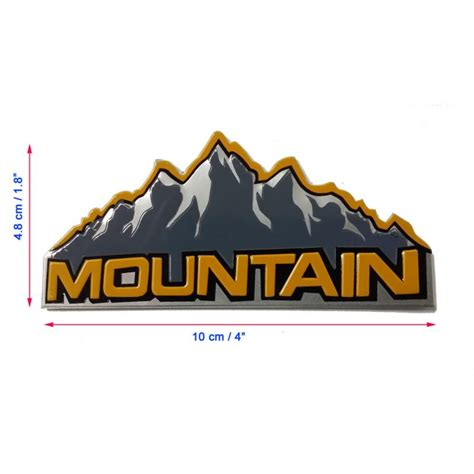 mountain jeep logo 2pcs aluminum jeep mountain logo decals emblem badge