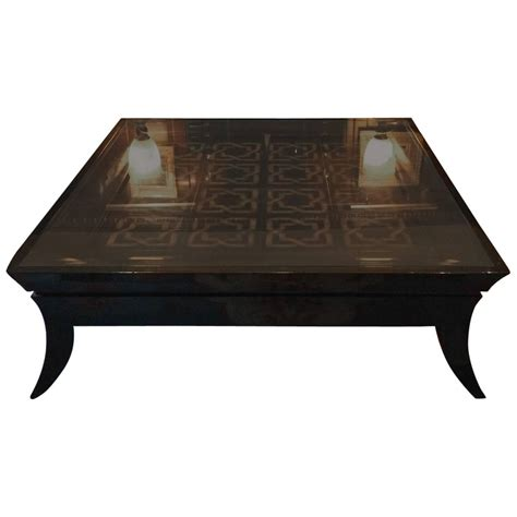 big coffee table large coffee table glass topped tiled modern at 1stdibs