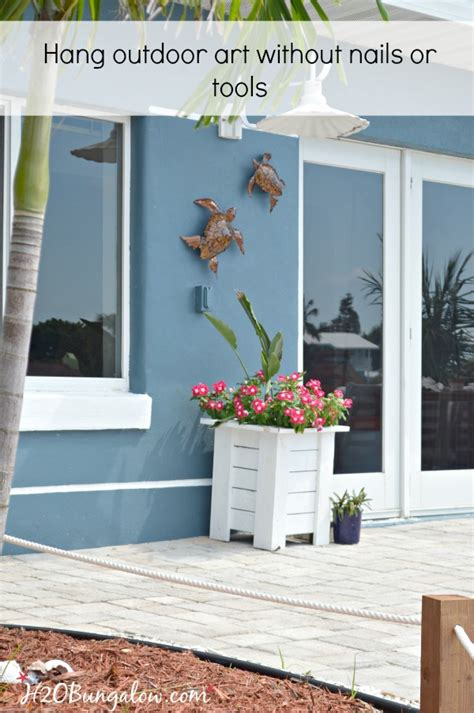 decorations to hang outside of houses how to hang outdoor wall decor without nails h20bungalow