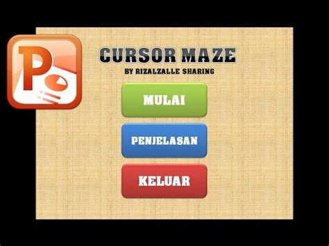 tutorial membuat game powerpoint cara membuat game dengan ms powerpoint 1 membuat main