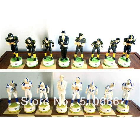 themed chess sets american football theme chess set in inimitable design made in resin best gift for friend jpg