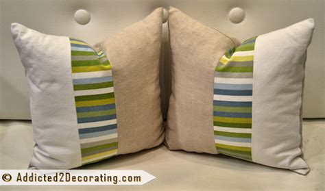 banquette pillows diy easy three fabric decorative pillows