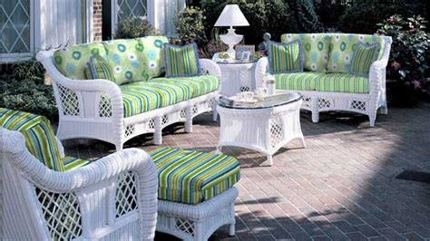 White Outdoor Wicker Furniture by Patio Lounge Sets Ohana Outdoor Wicker Patio