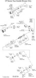 Delta Single Handle Shower Faucet Diagram Plumbingwarehouse Com Price Pfister Bathroom Faucet