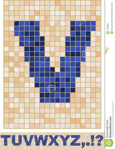 mosaic pattern font mosaic font t z stock image image 17808951
