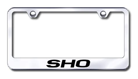 ford taurus sho laser etched stainless steel license plate