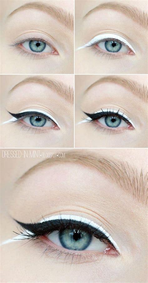 hair and makeup winnipeg beautiful black white eyeliner tutorial calgary