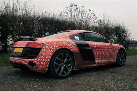 wrapped r8 santa gift wrap an audi r8 go drifting