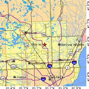 Troy Michigan Map by Troy Michigan Mi Population Data Races Housing