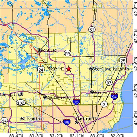 Troy Michigan troy michigan map bnhspine
