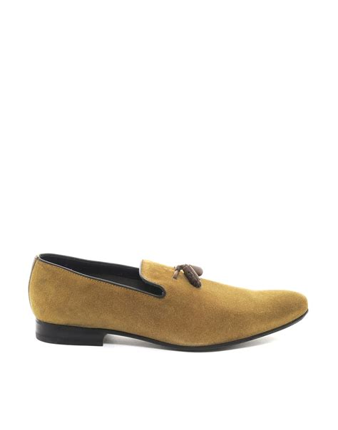 ted baker suede loafers ted baker erdvis suede tassel loafers in metallic for