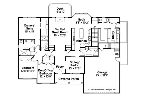 unique ranch style home floor plans 1 5 story home styles ranch house plans hshire 30 799 associated designs